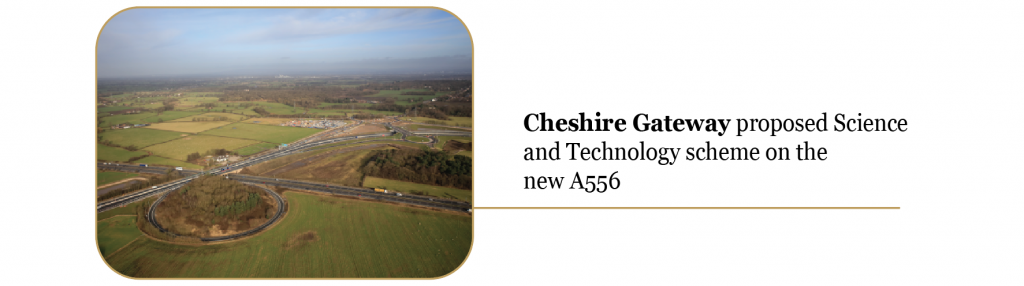 Cheshire Gateway proposed science and technology scheme on the new A556