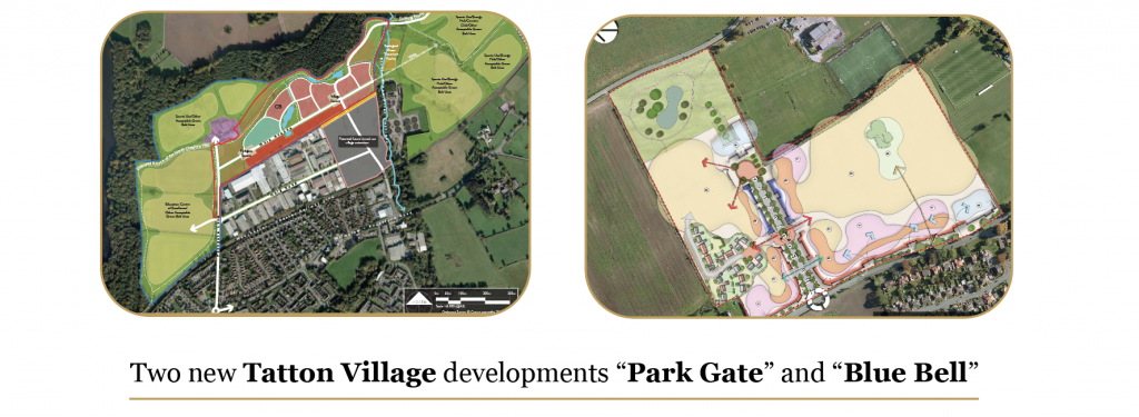 Tatton Village developments masterplan for residential, commercial and mixed use, in Knutsford Cheshire
