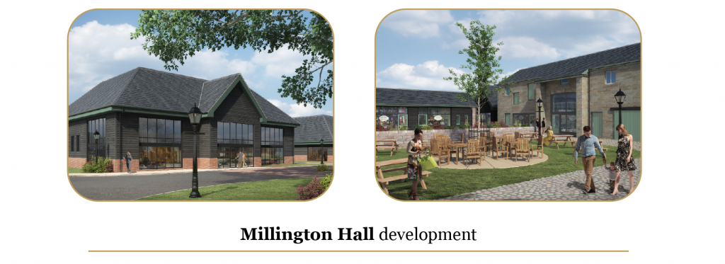 Mixed use commercial development at Millington hall by Knutsford, Cheshire